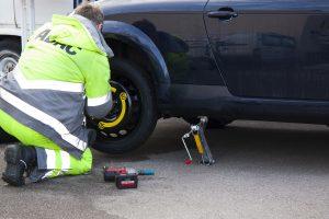 Bild von einem Reifenwechsel