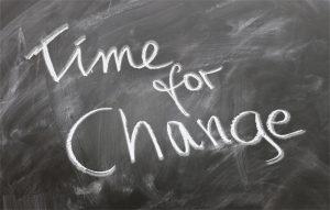 Zeit etwas zu ändern.