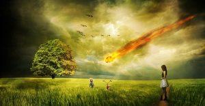 Weltuntergang, Meteorit, Komet